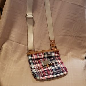 Tommy Hilfiger Red and Blue Plaid Crossbody